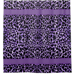 Purple Leopard Animal Print Shower Curtain