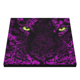Purple Leopard Animal Print Wall Art