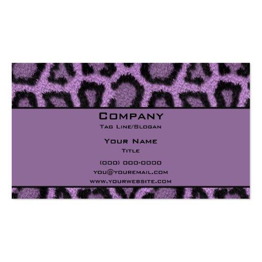 Purple Leopard Business Card Templates