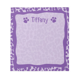 Purple Leopard Cheetah Animal Notepad