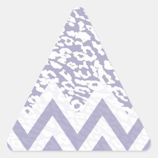 Purple leopard chevron triangle sticker