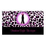 Purple Leopard Fashion Boutique Business Card