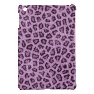 Purple Leopard Fur Print iPad Mini Case