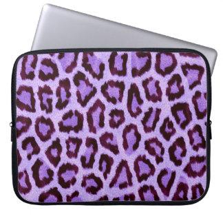 Purple Leopard Laptop Sleeve