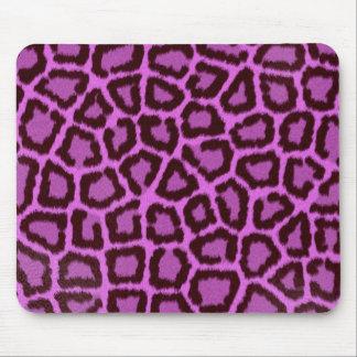 purple leopard mouse pads
