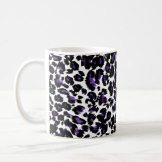 Purple Leopard Pattern Coffee Mug