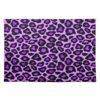 Purple Leopard Pattern Cloth Place Mat