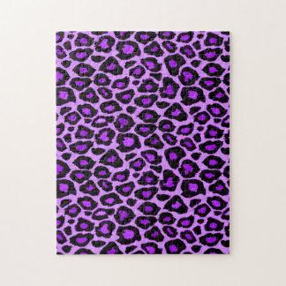 Purple Leopard Pattern Puzzle