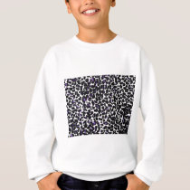 Purple Leopard Pattern Sweatshirt