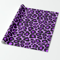 Purple Leopard Pattern Wrapping Paper