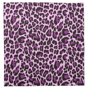 Purple Leopard Print Cloth Napkin