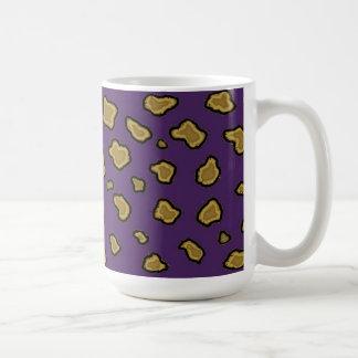 Purple Leopard Print Coffee Mug