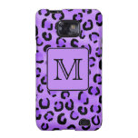 Purple Leopard Print Custom Monogram. Samsung Galaxy S2 Covers