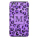 Purple Leopard Print Custom Monogram. iPod Touch Covers