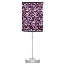Purple Leopard Print Desk Lamp