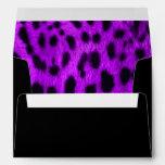 """Purple Leopard Print"" Envelope"