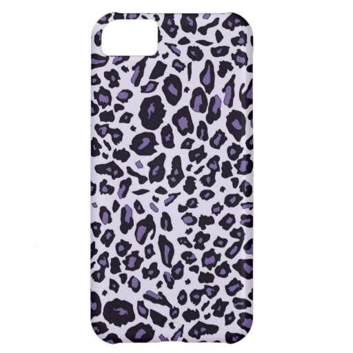 Purple leopard print iPhone 5C cases