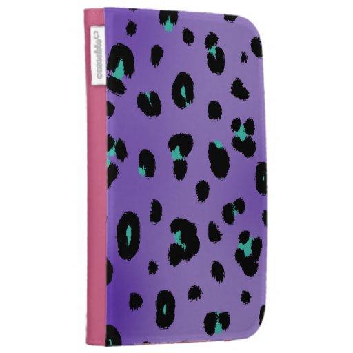 Purple Leopard Print Kindle Case