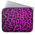 Purple Leopard Print Laptop Sleeve