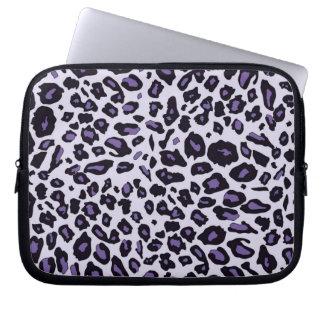 Purple leopard print computer sleeves