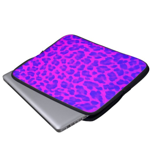 Purple Leopard Print Laptop Sleeve