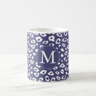 Purple Leopard Print Monogram Coffee Mug