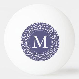 Purple Leopard Print Monogram Ping-Pong Ball