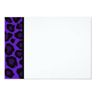 Purple Leopard Print Panel Invitation