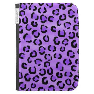 Purple Leopard Print Pattern. Case For Kindle