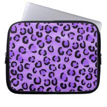 Purple Leopard Print Pattern. Computer Sleeve