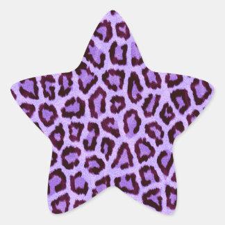purple leopard print pattern - wild fun punk rock star sticker