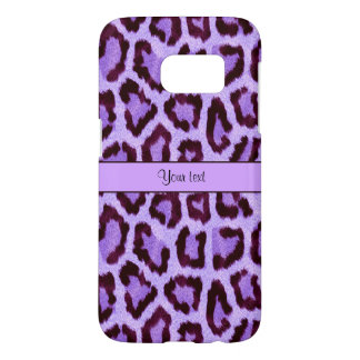 Purple Leopard Print Samsung Galaxy S7 Case