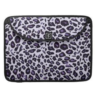 Purple leopard print sleeves for MacBook pro