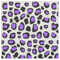 Purple Leopard Spots Animal Print Teen Girl Fabric