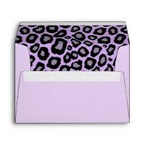 Purple Leopard Spots Envelope
