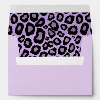 Purple Leopard Spots Envelope