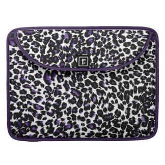 Purple Leopard Spots Sleeves For MacBooks