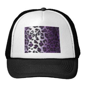 PURPLE LEOPARD TRUCKER HAT
