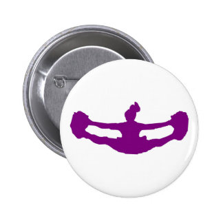 Purple LET'S CHEER! Pinback Buttons