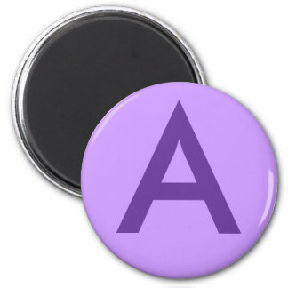 Purple Letter or Text on T shirts and Products Refrigerator Magnet