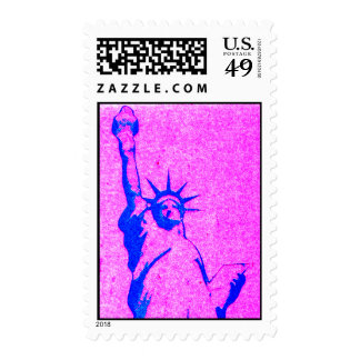 Purple Liberty Postage Stamp