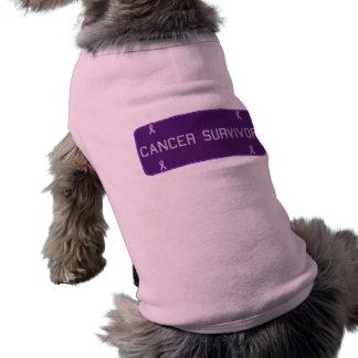 Purple License Plate Survivor Dog T-Shirt