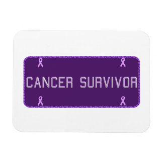 Purple License Plate Survivor Magnet