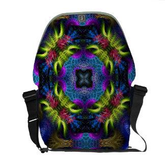 Purple 'licious Fractals Messenger / Laptop Bag Messenger Bags
