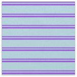 [ Thumbnail: Purple & Light Blue Stripes/Lines Pattern Fabric ]