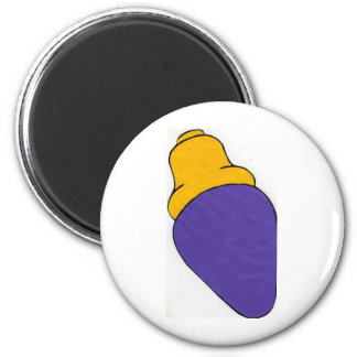 purple light bulb fridge magnets