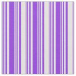 [ Thumbnail: Purple & Light Cyan Colored Lined/Striped Pattern Fabric ]