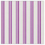 [ Thumbnail: Purple & Light Cyan Colored Striped Pattern Fabric ]