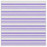 [ Thumbnail: Purple & Light Cyan Lined Pattern Fabric ]