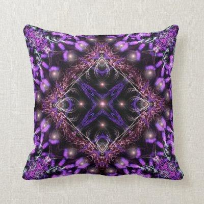 Purple Light Fractal Tapestry American MoJo Pillo Pillows
